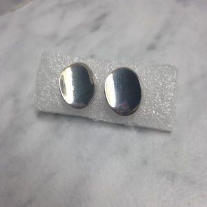 Jewelry - Sterling Silver Oval Pierced Earrings